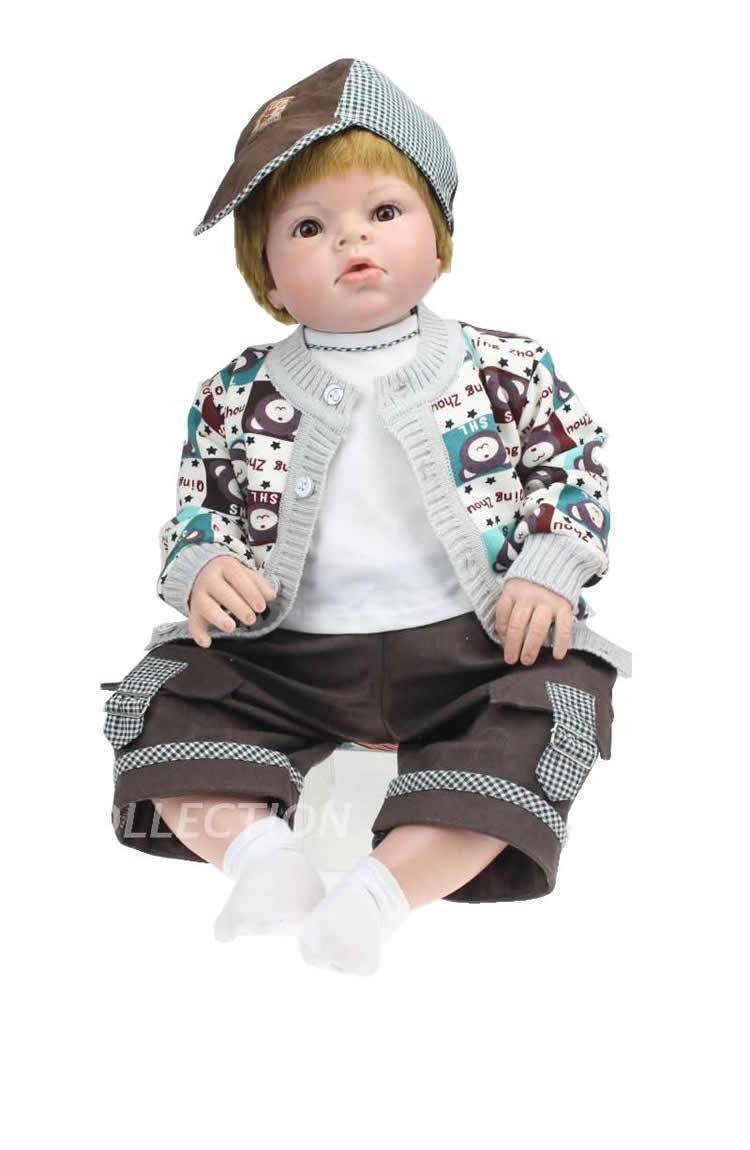28  recién nacido reborn silicona muñeca bebé realista Vivo Hecho a Mano Modelo para Niños