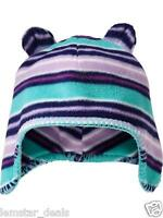 Old Navy Microfleece Trapper Style Critter Hat 12-18 Months Purple & Turquoise