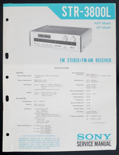 Sony Str Am Stereo Receiver Service