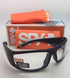 ad6adf286f New SPY OPTIC Sunglasses TACKLE 69-14 Matte Black Frame w  ANSI Z87 ...