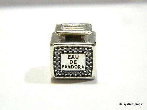 5e0ac26be Authentic PANDORA Charm Silver 791889CZ Signature Scent Perfume Bottle A19