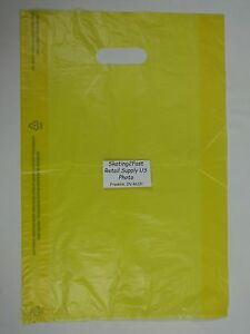 100-Qty-12-x-3-x-18-Yellow-High-Density-Plastic-Merchandise-Bag-w-Handle