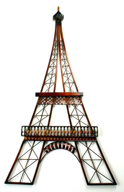 XXL Wandbild Eiffelturm 99 cm Metallbild Hängebild Figur Wanddeko Eiffel Tower