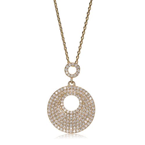 Venus 18ct Yellow Gold Cubic Zirconia Necklace//Pendant Wedding-Gift-Jewellery