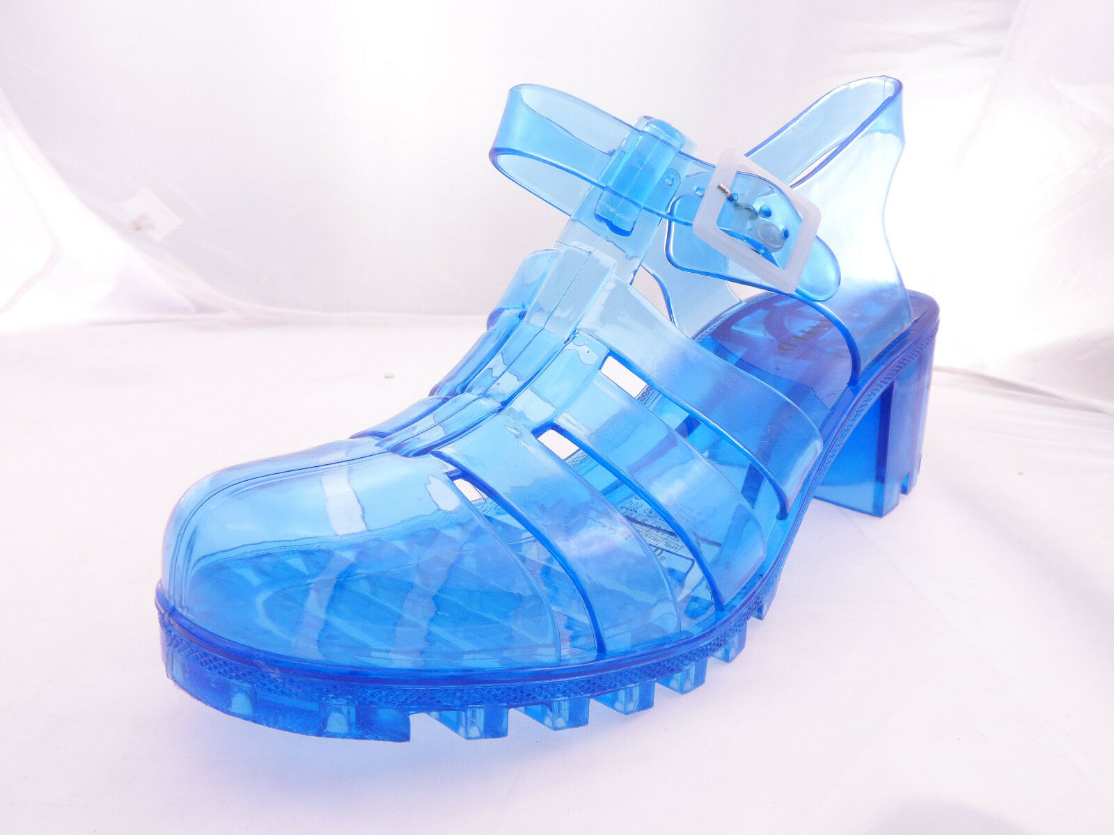 bluee Women's Gumball Low Heel Jelly Sandal 6M