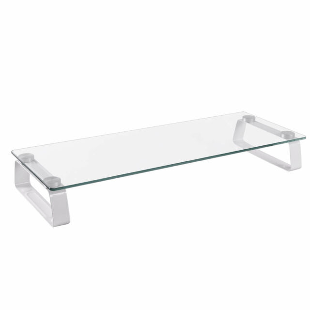 FOREST AV Monitor Screen Toughened Glass Riser for Computers, Laptops