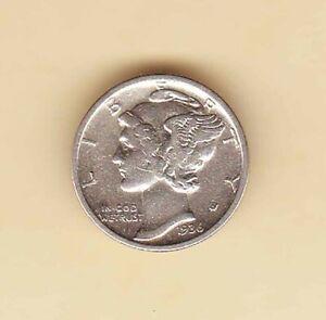US-MERCURY-Head-DIME-10-cents-1936-SILVER