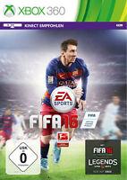 Microsoft Xbox 360 Spiel Fifa 16 Football 2016 Fussball Fußball Neunew