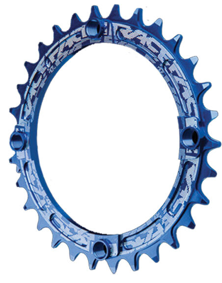 Race Face Single Narrow Wide 1x MTB Chainring - 104mm BCD 30t bluee