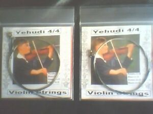2-Sets-Yehudi-Violin-Strings-4-4-E-A-D-G-German-Silver-Wound-Ball-Ends