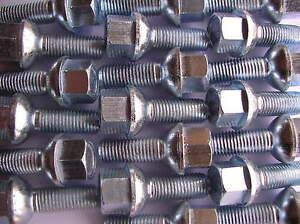 8 CHROM Radschrauben Radbolzen Schrauben M12x1.5x50 Kugel Kugelbund R12 SW17