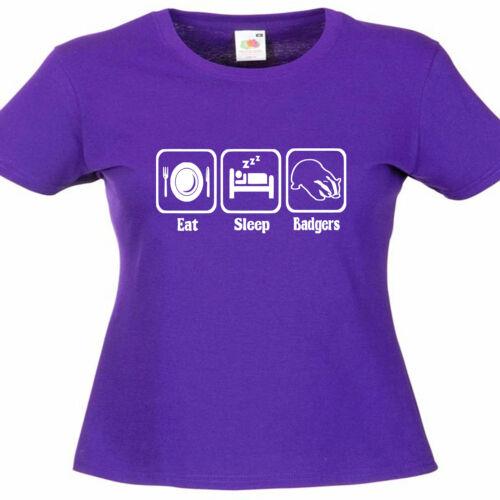 Badgers Ladies Lady Fit T Shirt 13 Colours Size 6-16