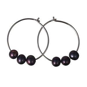 Circle-of-Life-Black-Pearl-Hoop-Earrings