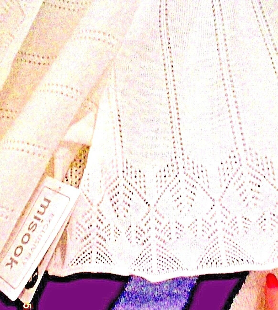NWT MISOOK S NEW NEW NEW IVORY CASCADING POINTELLE CARDIGAN DUSTER SMALL (4-6) LAST ONE 3fc59f