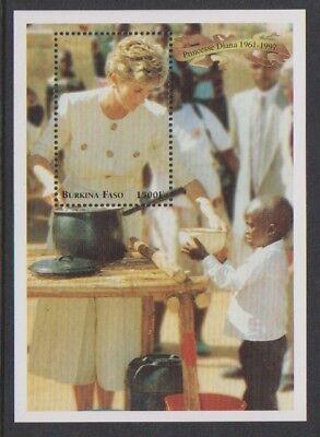 Mnh 100% Original 1998 Princess Of Wales Blatt Diana LiebenswüRdig Burkino Faso