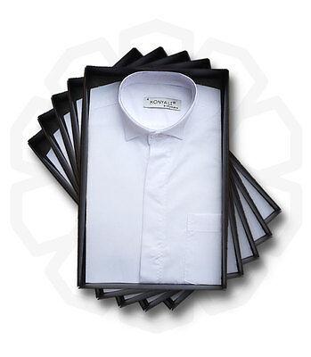 SIRRI Boys Formal Suit Shirts, Page Boy Wedding Prom Cotton Blend Kids Shirt