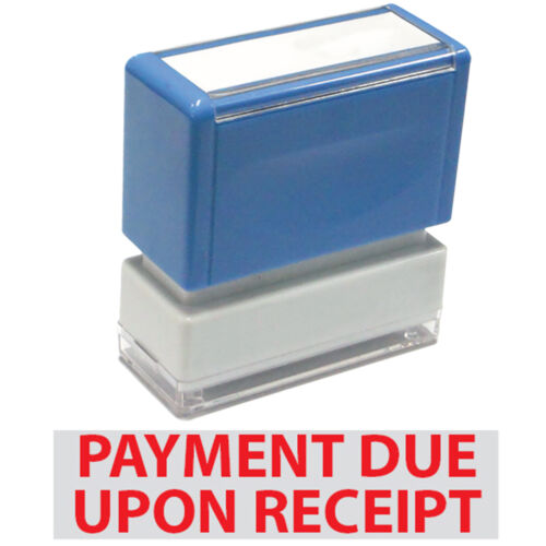 """/""""Payment Due Upon Receipt/"""" JYP PA1040 Pre-Inked Rubber Stamp w"""