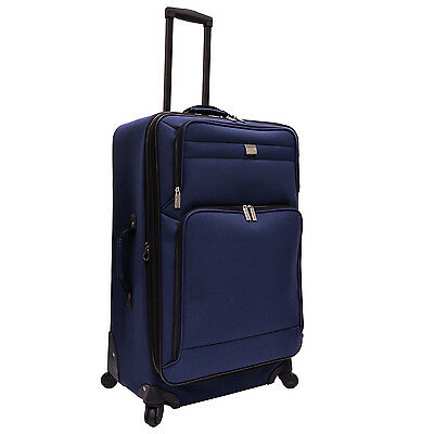 "US Traveler Functional Navy Blue 28"" Lightweight Expandable Spinner Luggage Bag"