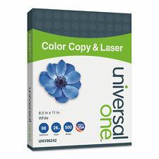 Universal Copierlaser Paper 98 Brightness 28lb 8 12 X 11 White 500 Sheetsream