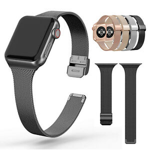 Milanese Slim Band Thin Strap For Apple Watch Series 5 4 3 2 44mm 40mm 42mm 38mm Ebay