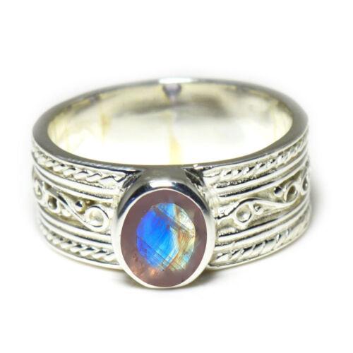 Genuine Gemstone Sterling Silver Ring Band Wedding Handmade Jewelry Size 4 To 12