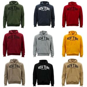 Adult-Men-039-s-Unisex-Hoodie-Hooded-Jumper-Pullover-Women-039-s-Sweater-NEW-YORK