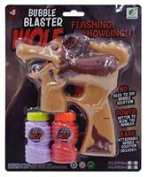 Light Up Brown Wolf Bubble Gun With Sound Endless Toy Bubbles Maker Machine