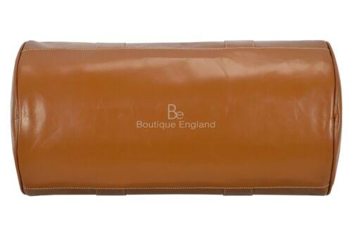 Men/'s Leather Weekend Bag Tan Duffel Travel 100/% authentique émail Holdall 9098