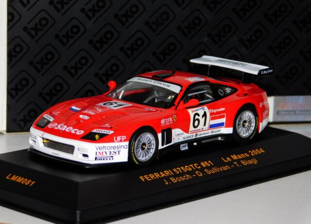 Ixo 143 Scale Lmm081 Ferrari 575 Gtc 61 Le Mans 2004 Ebay
