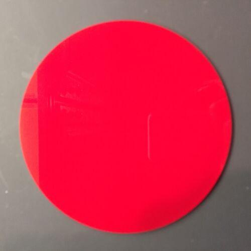 """TRANSLUCENT RED ACRYLIC PLEXIGLASS 1//8/"""" PLASTIC CIRCLE DISC 6/"""" DIAMETER"""