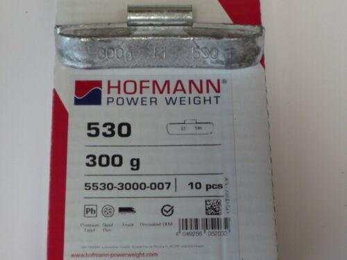 10x Hofmann Typ 530 LKW Auswuchtgewichte für Stahlfelgen 300g />565976/<