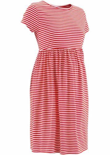 Wunderschönes Umstandsmoden Kleid in Erdbeere//Weiß 32//34