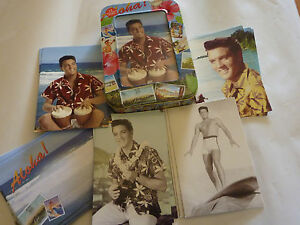 Elvis-Presley-Collectable-tin-with-12-Greeting-Cards-034-Blue-Hawaii-034