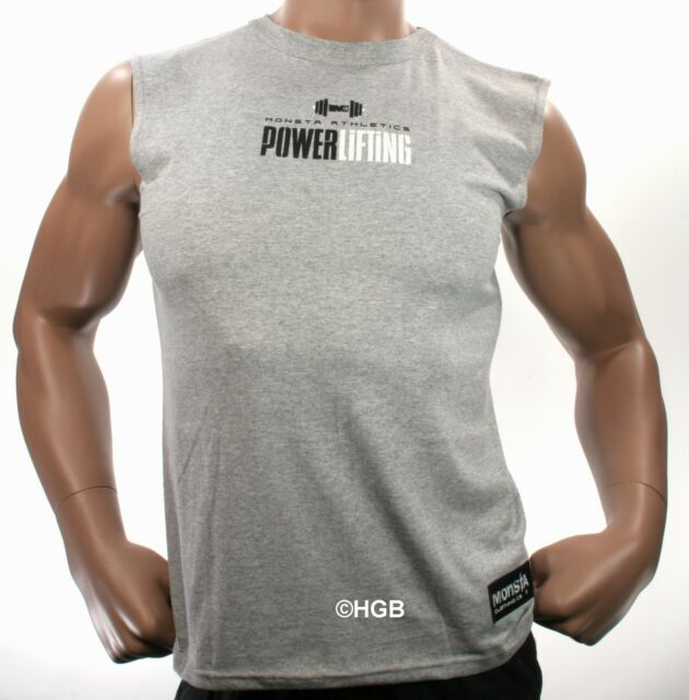 Monsta Clothing Mens Graphic Tee Bodybuilding Wear PowerLifting T Shirt Gym New
