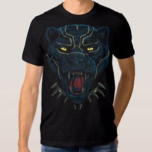 Black-Panther-Marvel-T-shirt-Superhero-Tee-Men-039-s-Women-039-s-All-Sizes