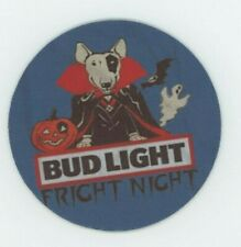 Bud Light Beer COASTER - Spuds Mackenzie Dracula Halloween - Fright Night