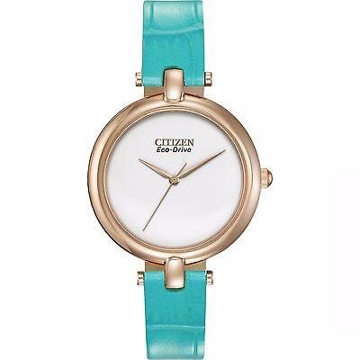 Citizen Eco-Drive Women's EM0253-20A Silhouette Turquoise Strap Watch