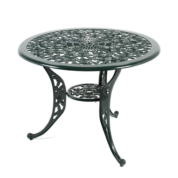 Outdoor Garden Furniture Ornate Aluminium Round Patio Lattice Table Metal