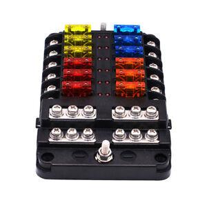 32V Car 12 Ways Independent Positive and Negative Fuse Box LED Warning  Indicator | eBayeBay