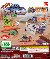 BANDAI SD Gundam Ganbare Desktop Gashapon Figure (Set 5 pcs) RX-78-2 ZZ Zaku