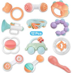 12pcs-Cartoon-Baby-Shake-Bell-Rattles-Newborn-Intelligent-Educational-Toys-Gift