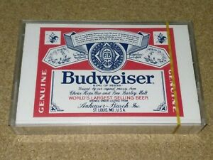 Vintage-cassette-Budweiser-TYPE1-Audio-Blank-tape-new-sealed-nice-Ultra-rare