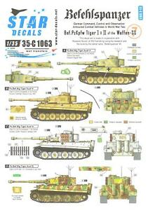 Star-Decals-1-35-BEFEHLSPANZER-TIGER-I-amp-TIGER-II-of-the-WAFFEN-SS-Set-7