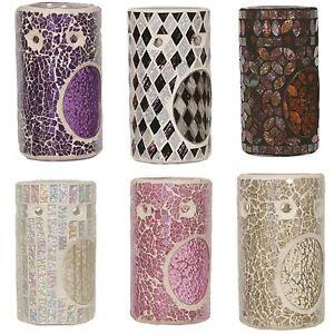 Village-Candle-14cm-Cylinder-Mosaic-Wax-Melt-Oil-Burners-Muliple-Designs