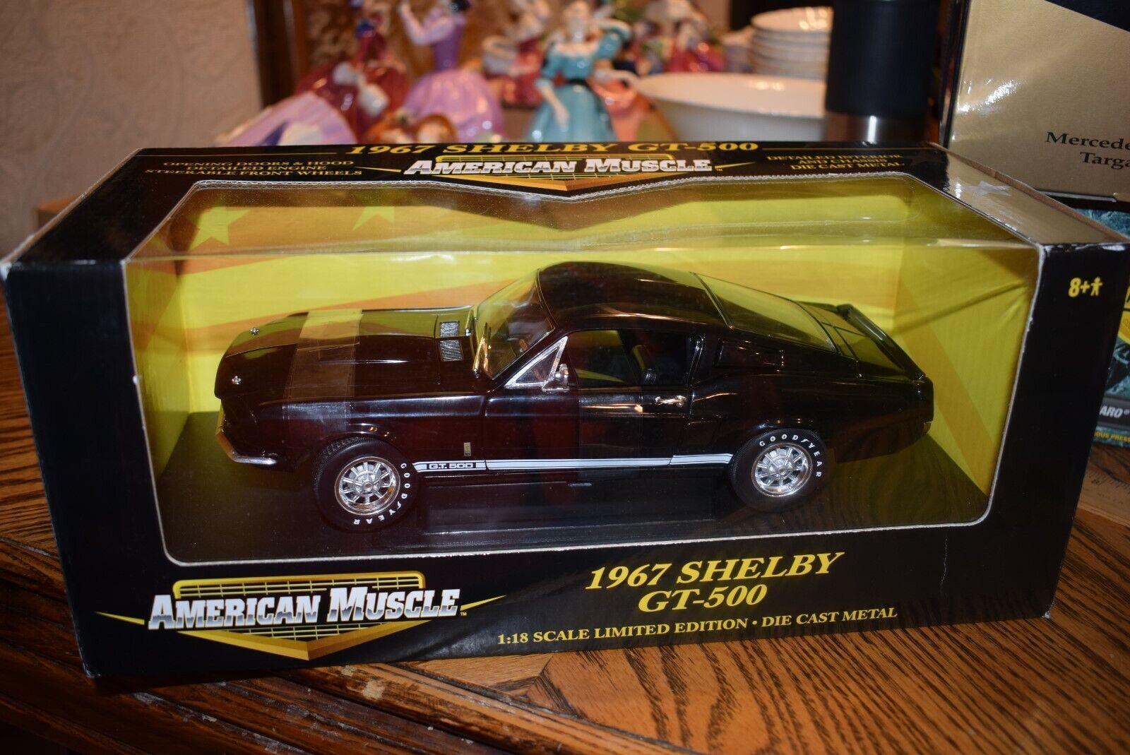 1967 Mustang Shelby GT350 schwarz 1 18 Ertl American Muscle New In Box