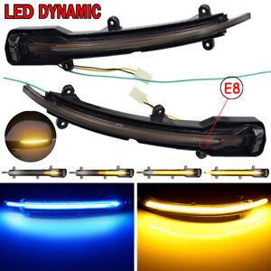 Paar-Dynamische-LED-Spiegelblinker-Blinker-Schwarz-Fuer-Audi-Q5-8R-Q7-Bj-09-15