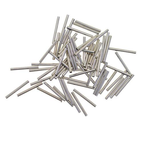 50x Metallperle Spacer Charms Tube Dreadlocks Perlen Flechten Haarschmuck für