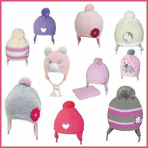 Image is loading Baby-GIRL-Winter-Hat-Cap-SIZES-from-38cm- fbe589ba95b