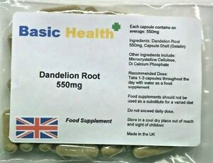 Dandelion-550mg-x-120-Whole-Root-Capsules-Water-Retention-Liver-Detox-Made-in-UK