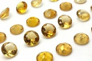 Heated-Round-Citrine-Diamond-Faceted-Cut-Loose-AA-Quality-Gemstone-Quartz-Stone